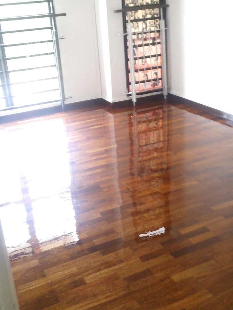 2 x 10 wooden floor polish
