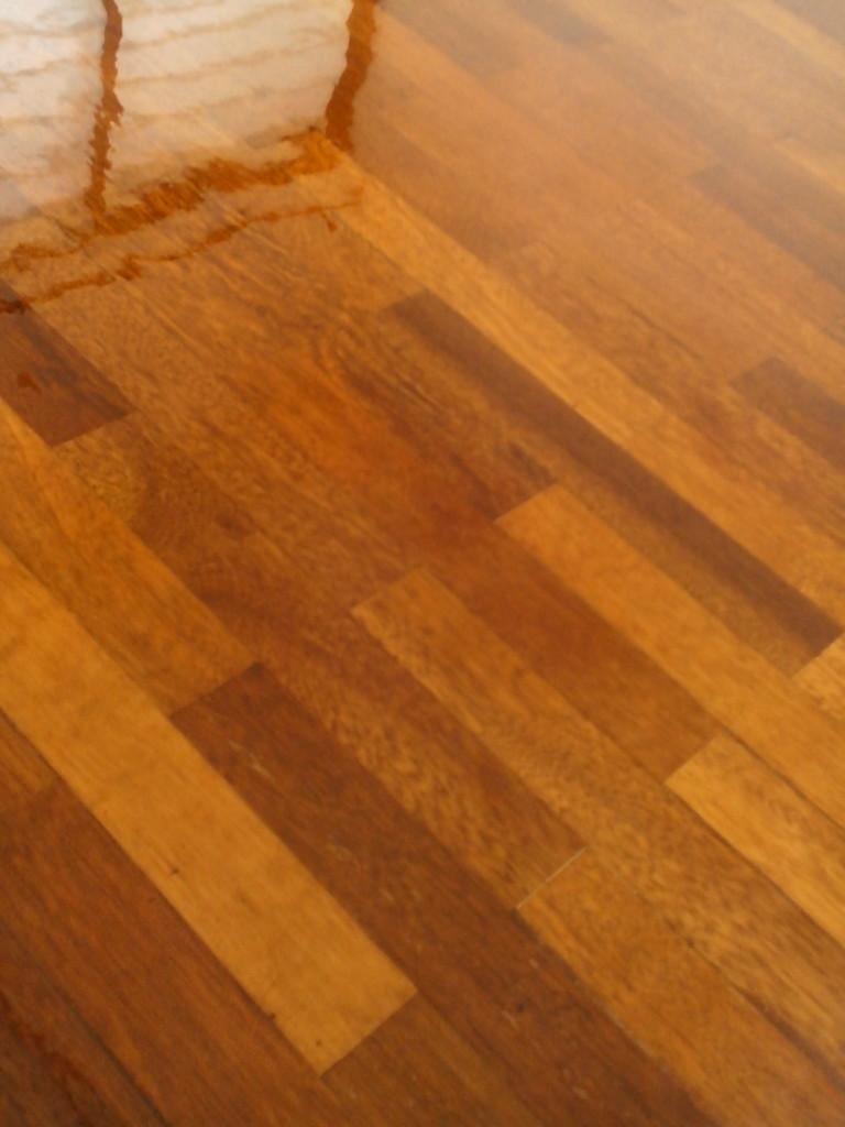 2' x 10' flooring - applying timber coat (Satin)