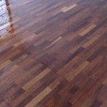 After apply timber coat- satin