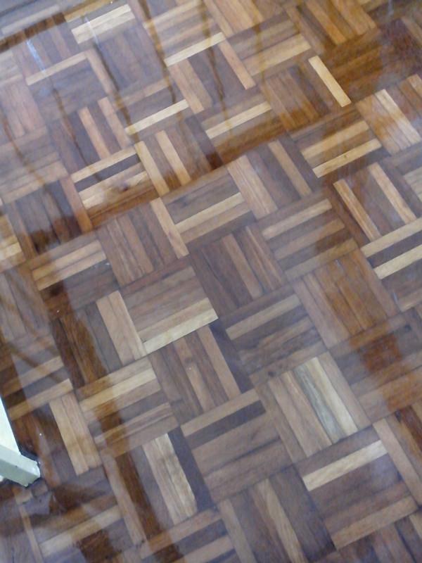 Parquet floor after polish