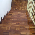 Parquet Stair after polish