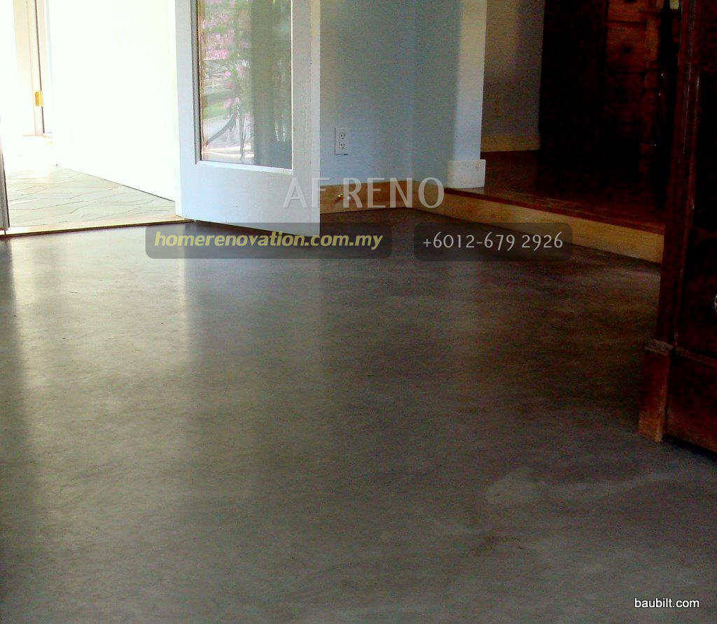 original shining cement floor