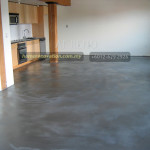 cement floor with coat