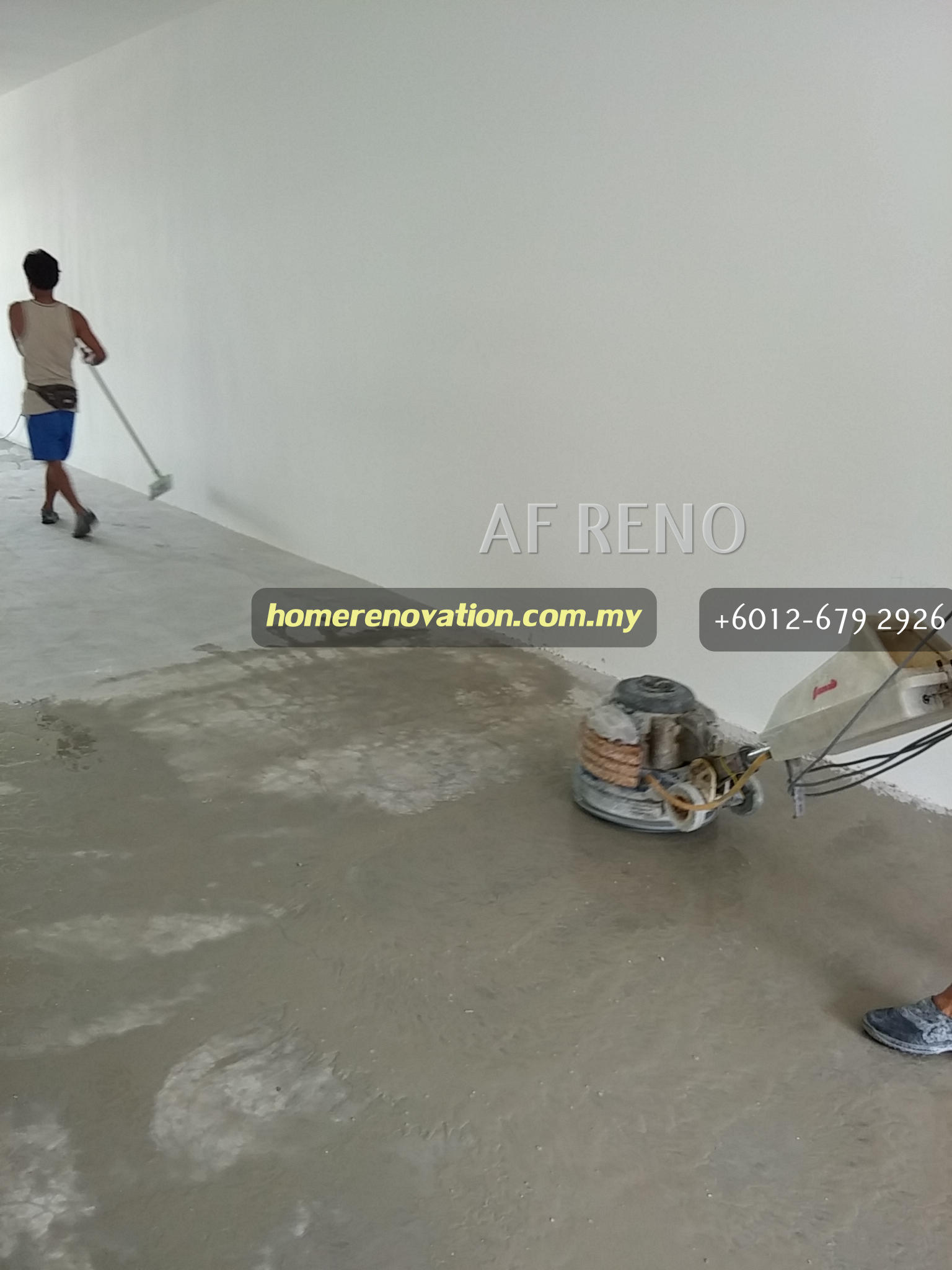 polishing cement floor