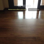 Varnishing the floor