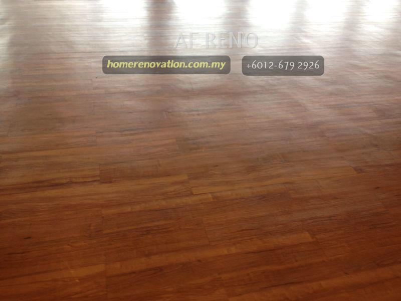 Matt finish flooring