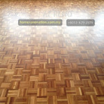 Parquet flooring shining finish