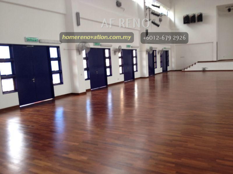 Hall with wooden flooring