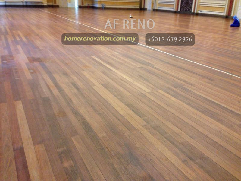 Restoration of wooden floor