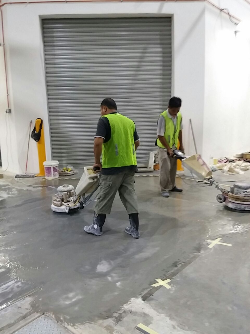 Cement Floor Polishing for Factory